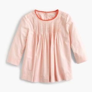 NWT Crewcut Grils Pom Pom Coral Pink Top Sz 10